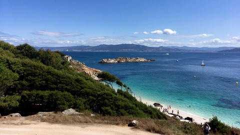 Seashore at Cies islands 画像