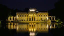 Palace on Water in Łazienki Park, Night, Warsaw Footage