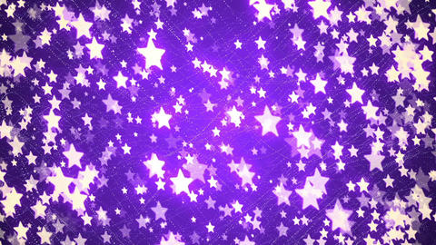 Abstract Loopable Background with nice purple flying stars Animation