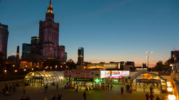 Warsaw City Centre Timelapse Warszawa Metro Centrum Footage