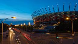 Warsaw National Stadium Timelapse Warszawa Stadion Narodowy Archivo