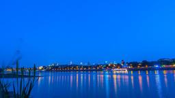 Warsaw Night Vistula River Timelapse Lanterns Warszawa Wianki nad Wisłą Footage