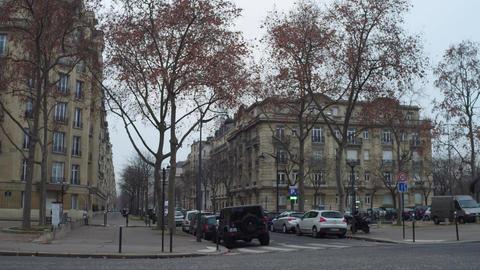 PARIS, FRANCE - DECEMBER, 31, 2016. POV steadicam walk through typical Parisian Footage