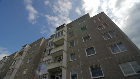 Typical socialist block of flats in Vilnius, Lithuania. East Europe Footage
