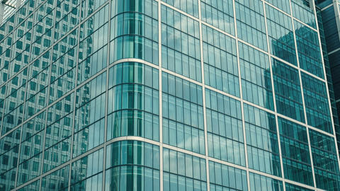 Reflections on office building windows Footage