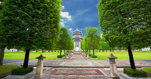 Chinese architecture garden in Thailand Image