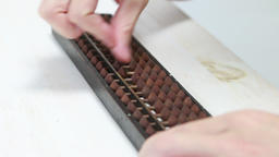 counting on an abacus Footage