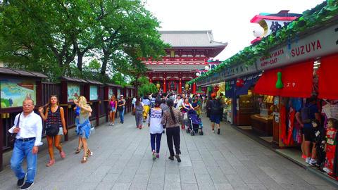 Nakamise street,Sensoji Tokyo Japan at dusk ライブ動画