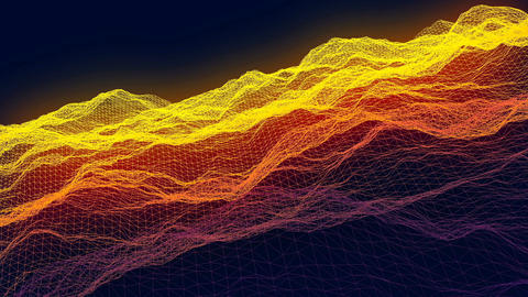 Fly In The Cyberspace, Abstract Loopable Background Animation