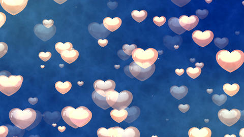 Flying Hearts. Abstract Loopable Background Image