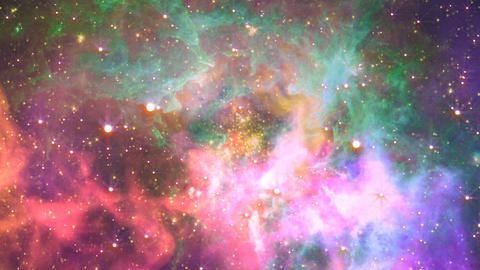Flying through nebula, Abstract Loopable Background Animation