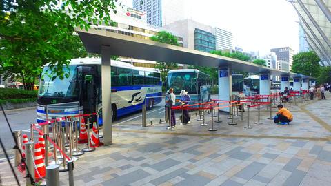 Tokyo station Yaesu central bus terminal,Japan ライブ動画