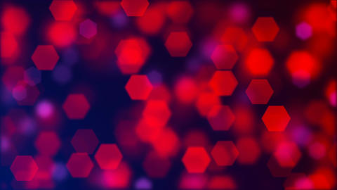 Abstract background of blurry red hexagonal bokeh Animation