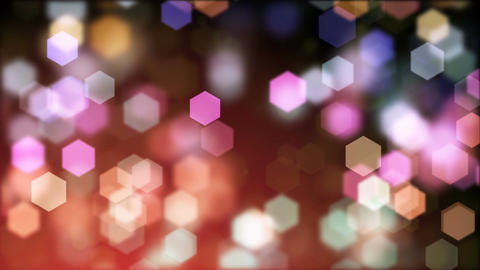 Abstract background of blurry hexagonal bokeh Animation