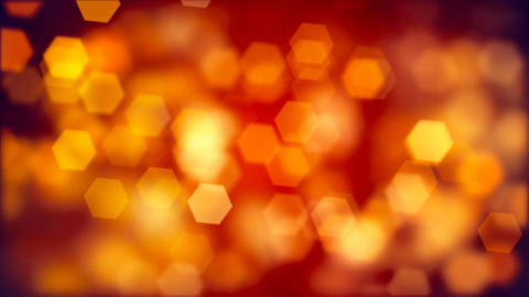 Abstract background of blurry orange hexagonal bokeh Animation