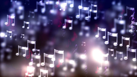 HD Loopable Background with nice flying musical notes Animación