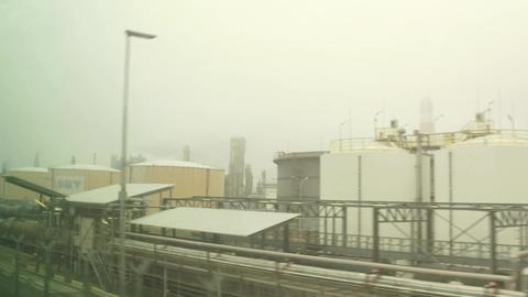 VIENNA, AUSTRIA - DECEMBER, 24 Oil refinery and railroad tanks. 4K video Footage