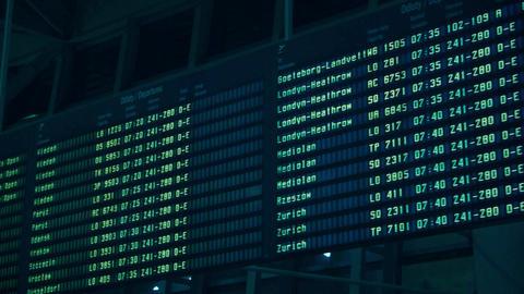 WARSAW, POLAND - DECEMBER, 24 Steadicam shot of international airport terminal Footage