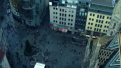 VIENNA, AUSTRIA - DECEMBER, 24, 2016 Saint Stephen's cathedral square and Footage