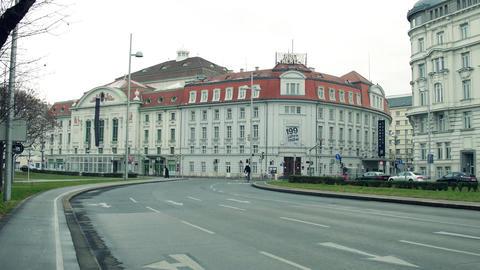 VIENNA, AUSTRIA - DECEMBER, 24 Steadicam shot of Wiener Konzerthaus, famous Footage