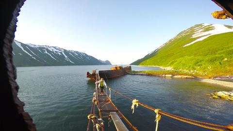Graveyard of ships. Sea Safari journey along the Kamchatka Peninsula Footage