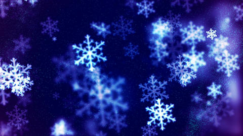 HD Loopable Background with nice falling snowflakes Animation