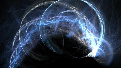 Digital Animation of a looping Fractal Shape Image