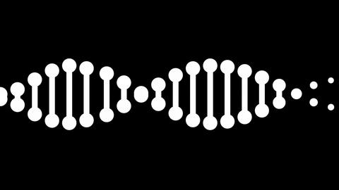DNA molecule animation seamless loop from 7:06s, Luma Matte Stock Video Footage
