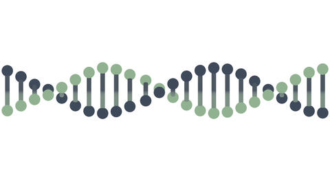 DNA molecule animation seamless loop from 7:06s, Luma Matte Animation