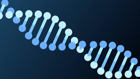 DNA molecule animation seamless loop from 8:08s, Luma Matte Stock Video Footage
