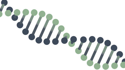 DNA molecule animation seamless loop from 8:0, Luma Matte Animation