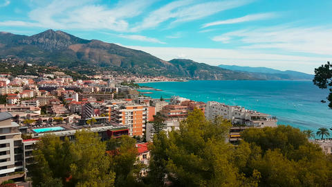 Aerial Shot of Mediterranean Resort City Footage