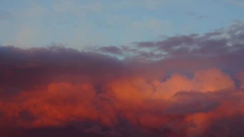 Red Cloud Sundown time lapse Footage