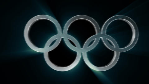 Olympic Rings Transition alpha channel Animación
