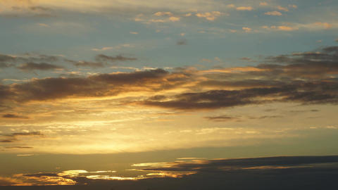 Sunset Sky Clouds time-lapse Footage