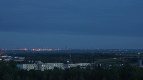 industrial outskirts evening Footage