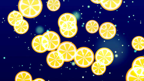 Flying Fruits. Abstract Loopable Background Animación