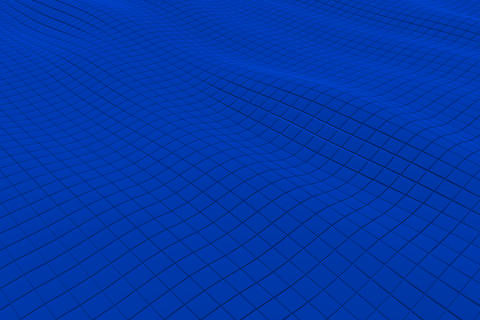 Wavy surface made of cubes Foto