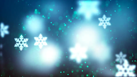 Christmas loopable background with nice falling snowflakes Animation