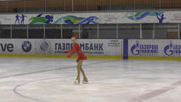 Orenburg, Russia - March 25, 2017 year: Girls compete in figure skating Footage