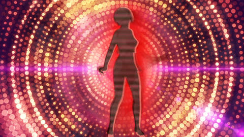 Abstract Loopable Background with nice dancing girls Animación