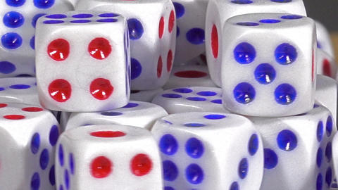 Closeup Many dice Footage