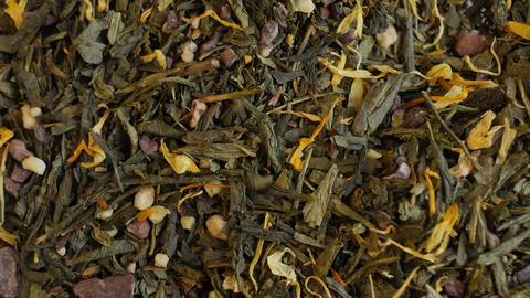 Green tea close up. Loopable rotation Archivo