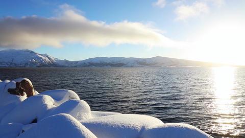 Sunny Winter in the Fjord Archivo