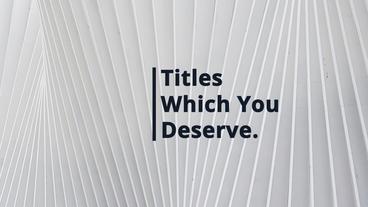 Unique Modern Titles Plantilla de After Effects