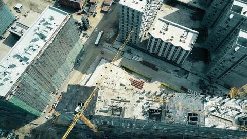 Buildings construction site Footage