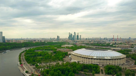 MOSCOW, RUSSIA - MAY, 24, 2017. High altitude aerial shot of renovated for FIFA Image