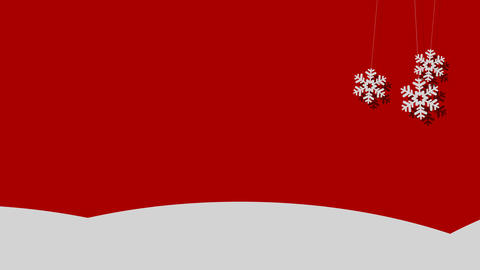 Snowy Vector Christmas Background of Snowflakes on a String Filmmaterial