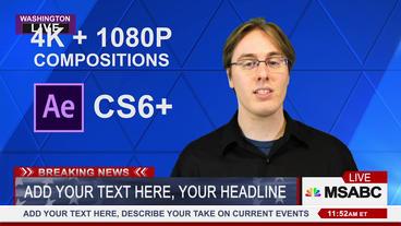 News Template MSNBC 4K 1080 Plantilla de After Effects