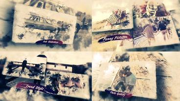 Beautiful Memories -Ink Slideshow Plantilla de After Effects